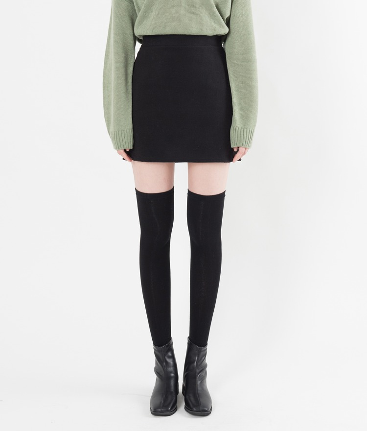 Basic Wool Blend Mini Skirt