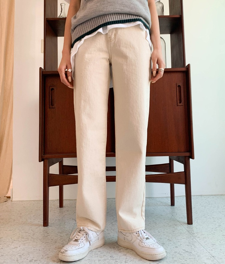NEVERM!NDSolid Tone Loose Fit Pants