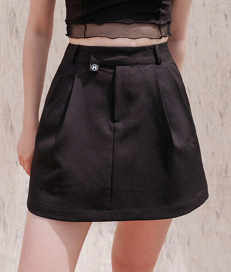HIDEBlack Concealed Closure Mini Skirt