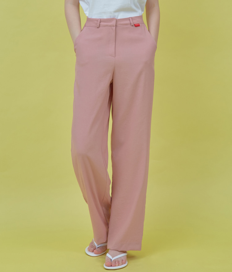 Heart Point Wide Pants (Indi Pink)