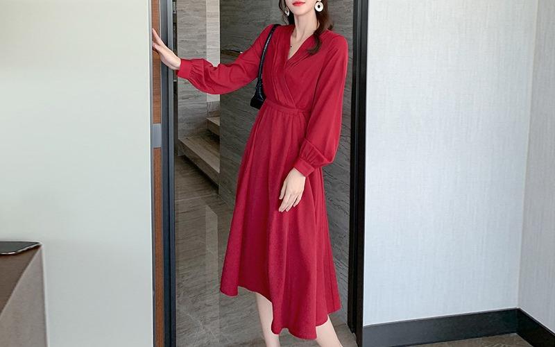 pintuck v-neck dress s138444