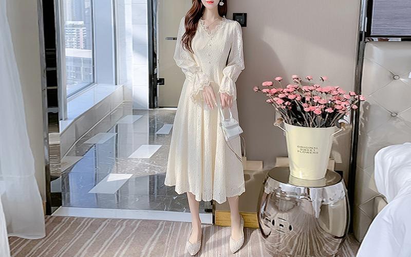 v-neck lace dress s138782