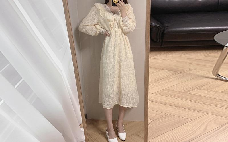 lace frill dress s138529