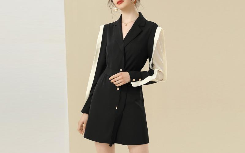 tailored collar belted jacket v138462