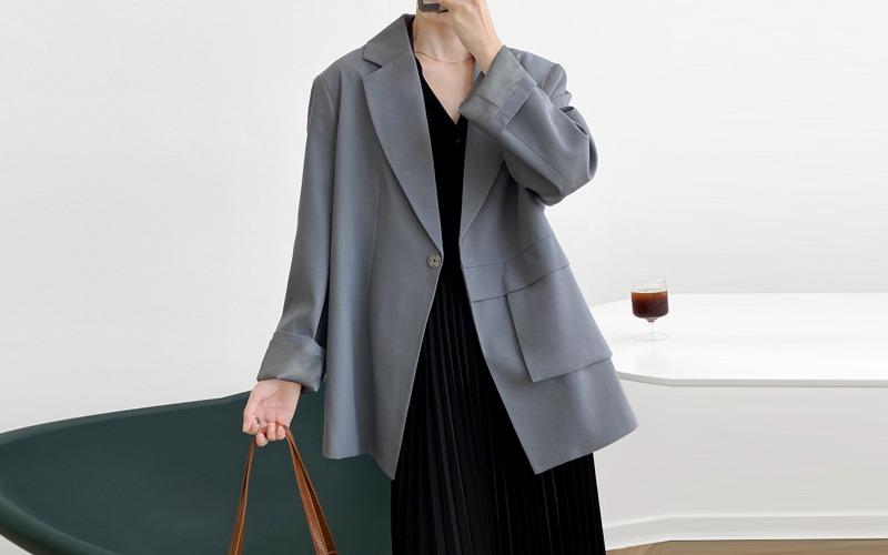 Unbalance tailored jacket v139089