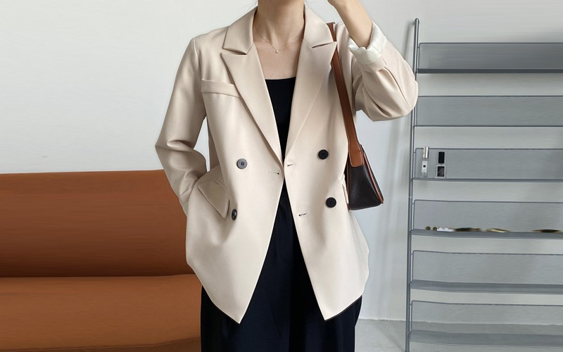 Tailored double Jacket v139068