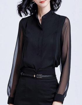 바비엘 시스루 셔츠 v71803