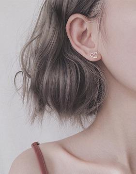 하트 스터드 귀걸이 v76767