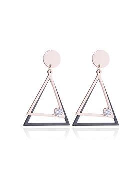 더블 트라이앵글 티타늄 귀걸이 v77014