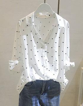 [SALE]유타 도트 셔츠 v93765
