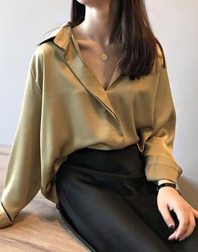 데바 솔리드 루즈 셔츠 v109880
