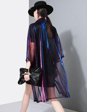 [SALE]네온 시스루 셔츠 자켓 s123954