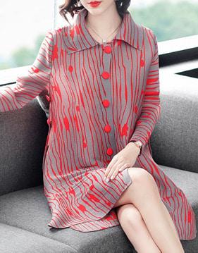 제인 카라 셔츠 원피스 v124369