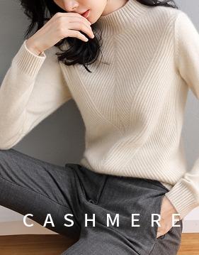 [캐시미어100%] 사선 반목 스웨터 v135014