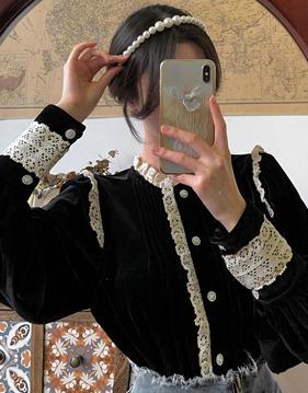 [SALE] lace velvet bl s138371