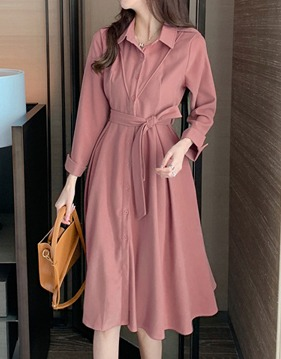 Cuffs shirt dress s138810