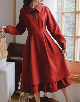 double collar dress v138514