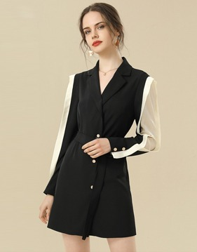 tailored collar belted jacket v138462