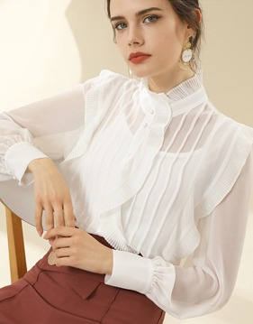 see-through frill blouse v139000