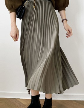 Pleats long skirt s139056