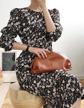 Floral slim dress v139115