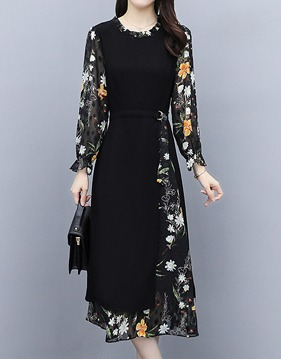 flower layer dress s139441