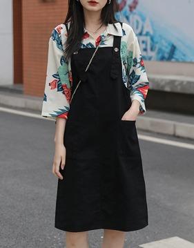 나염 셔츠 & 멜빵 원피스 s142191