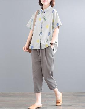 [SALE]루즈 셔츠 & 뒷밴딩 팬츠 s145069