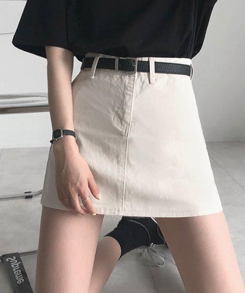 DEJOU基本萬用A字純色短裙