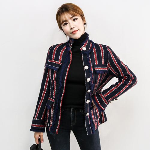 미유미,트위드자켓
