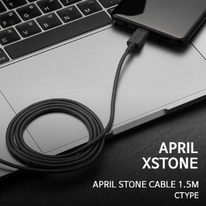 [APRIL X STONE] 고속 케이블 [USB->C타입][150cm] #