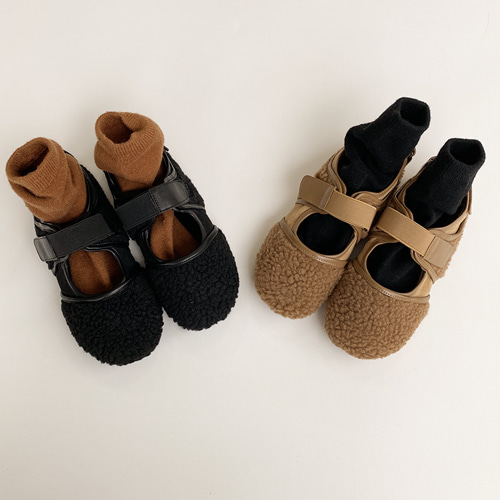 Sherpa Fleece Hoop and Loop Shoes