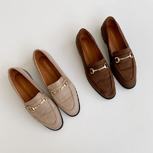 Bit Accent Low Heel Loafers