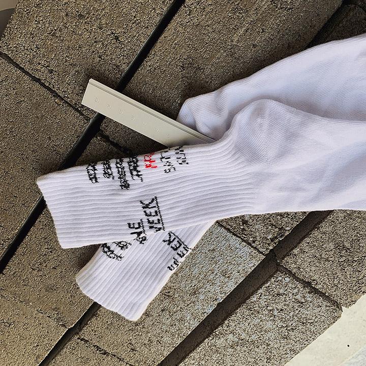 골지레터링-socks
