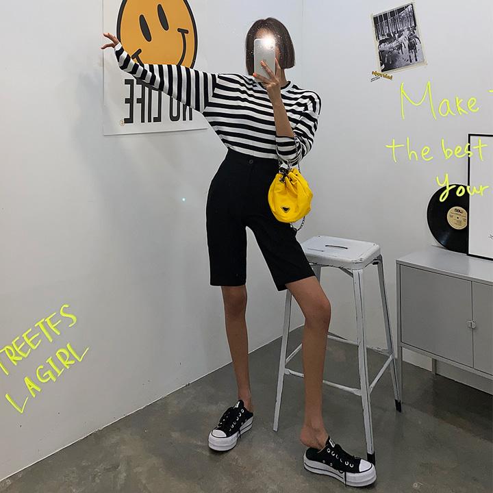 슬랙스하프-shorts