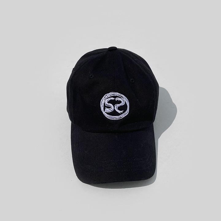 [SS-0020] S2 LOGO BLACK CAP