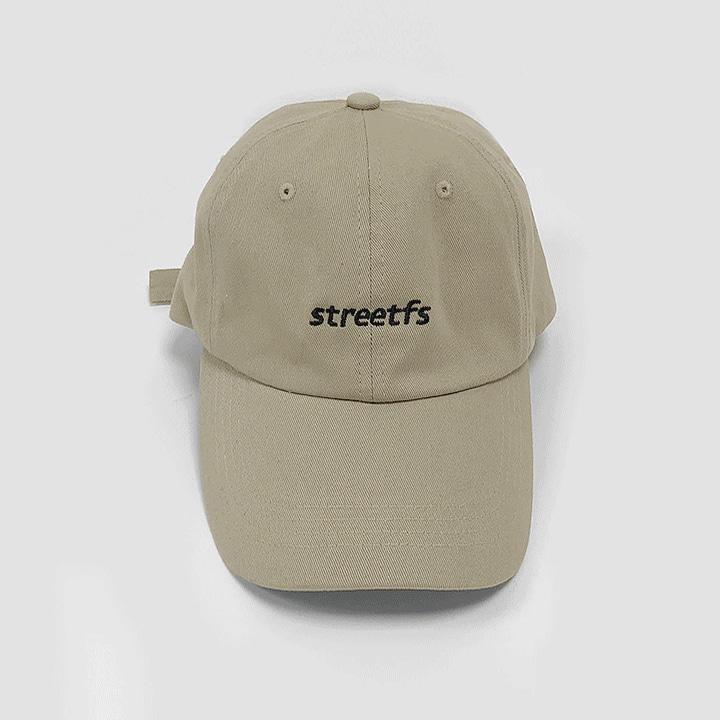 [SS-0030] STREETFS LOGO BEIGE CAP