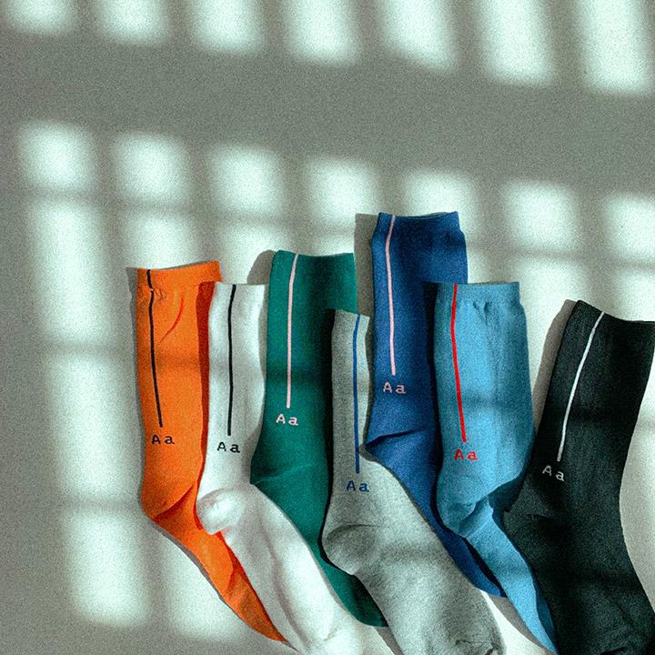 라인A레터링삭스-socks