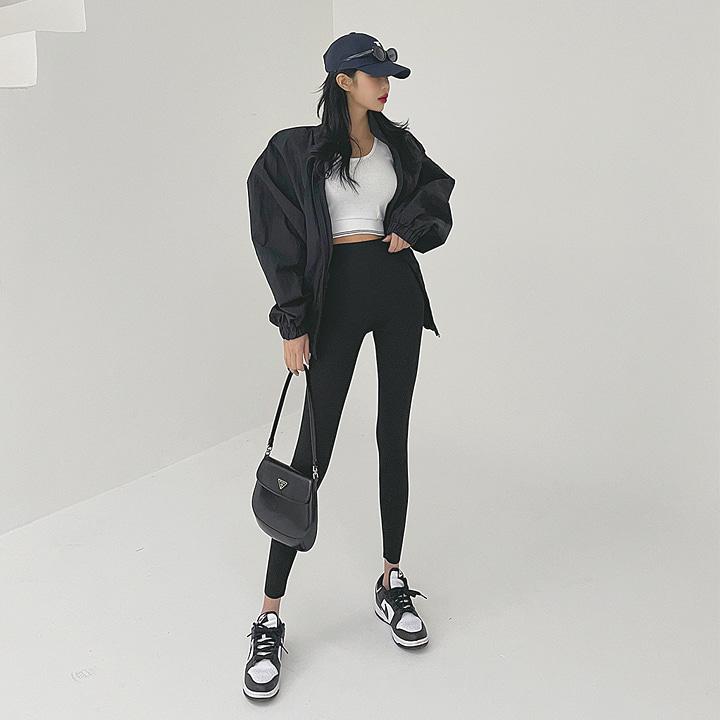 텐션슬림골지레깅스-leggings
