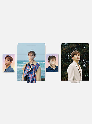 CHEN HOLOGRAM PHOTO CARD SET - April, and a flower