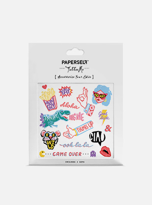 [MD &P!CK] PAPERSELF Talk Out Loud TATTOO STICKER