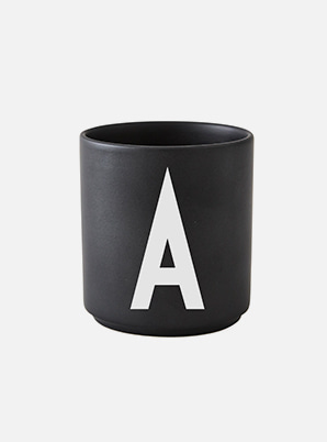 Home Cafe DESIGN LETTERS Personal Black Porcelain Cup