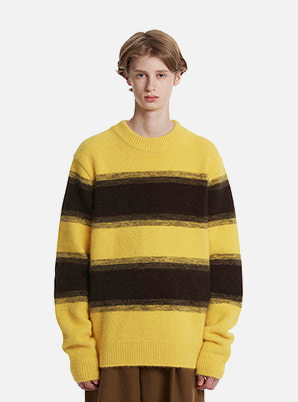 [STYLIST &P!CK] TRUNKPROJECT Angora Stripe Knit Sweater