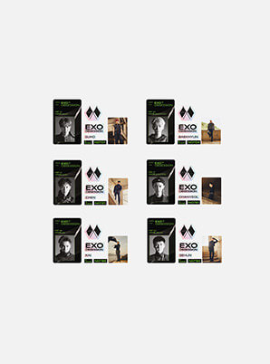 EXO ID CARD + DECO STICKER SET - OBSESSION