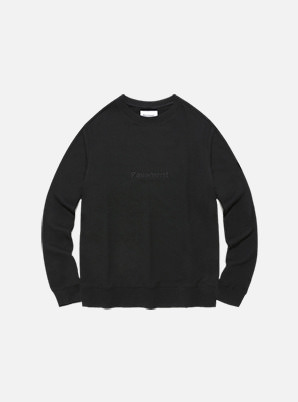 [STYLIST &P!CK] Pavement STANDARD CREWNECK IA - BLACK