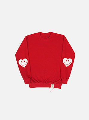 GRAVER ELBOW HEART CLIP SWEATSHIRT RED