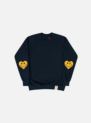 GRAVER ELBOW HEART CLIP SWEATSHIRT NAVY
