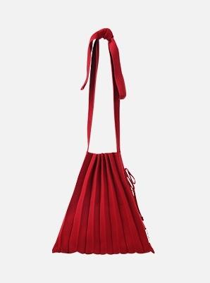 JOSEPH&STACEY Lucky Pleats Knit M Half & Half Crimson Red