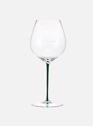 [CELEB &P!CK] JOHNNY PINOT NOIR GLASS - GREEN