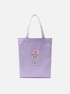DAYLIFE DAYLIFE♥ESTHER BUNNY LETTERING ECO BAG (PURPLE)